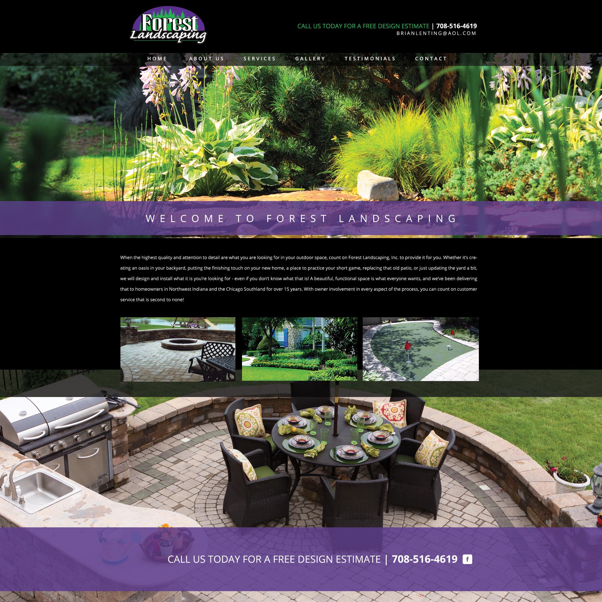 Forest landscaping for Forest landscape design