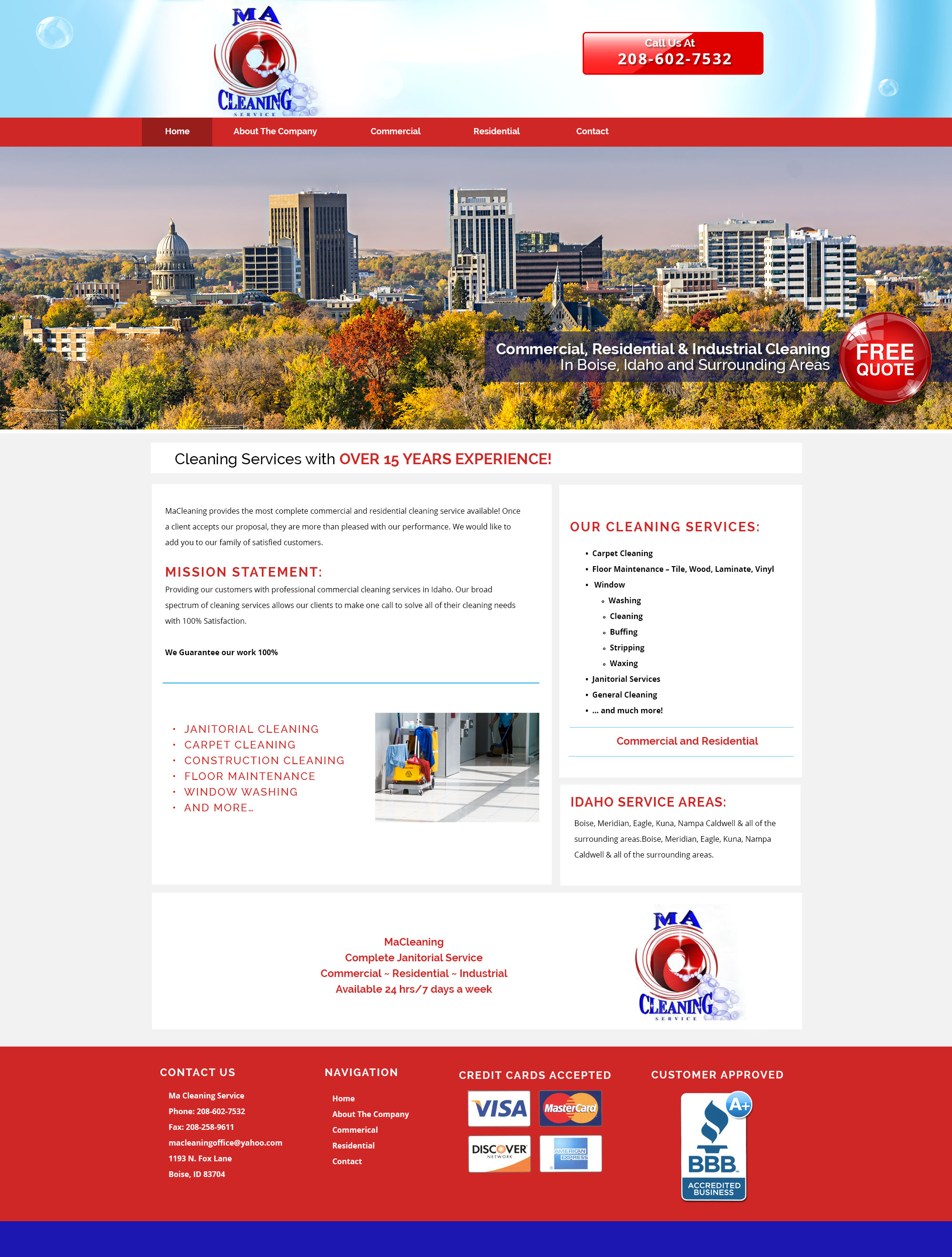Cleaning Service Custom Website
