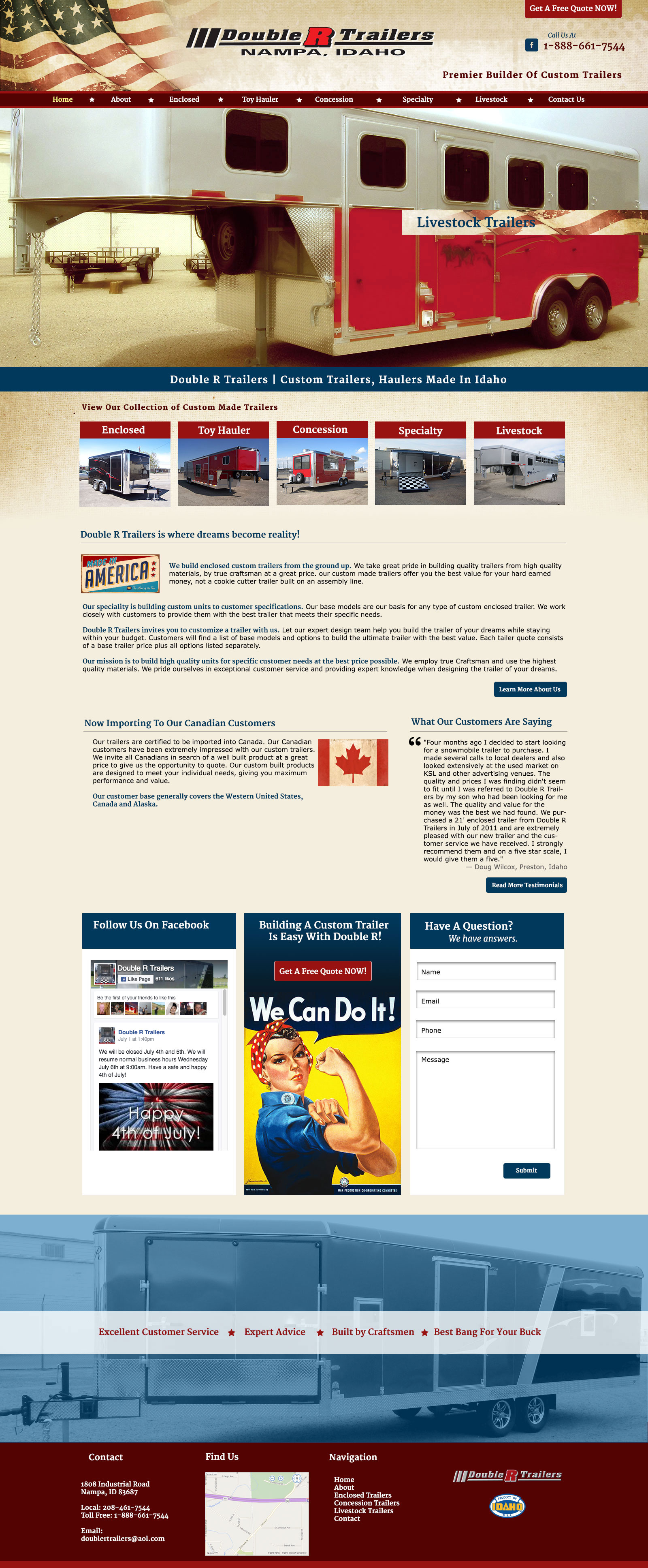 Custom Trailers Website