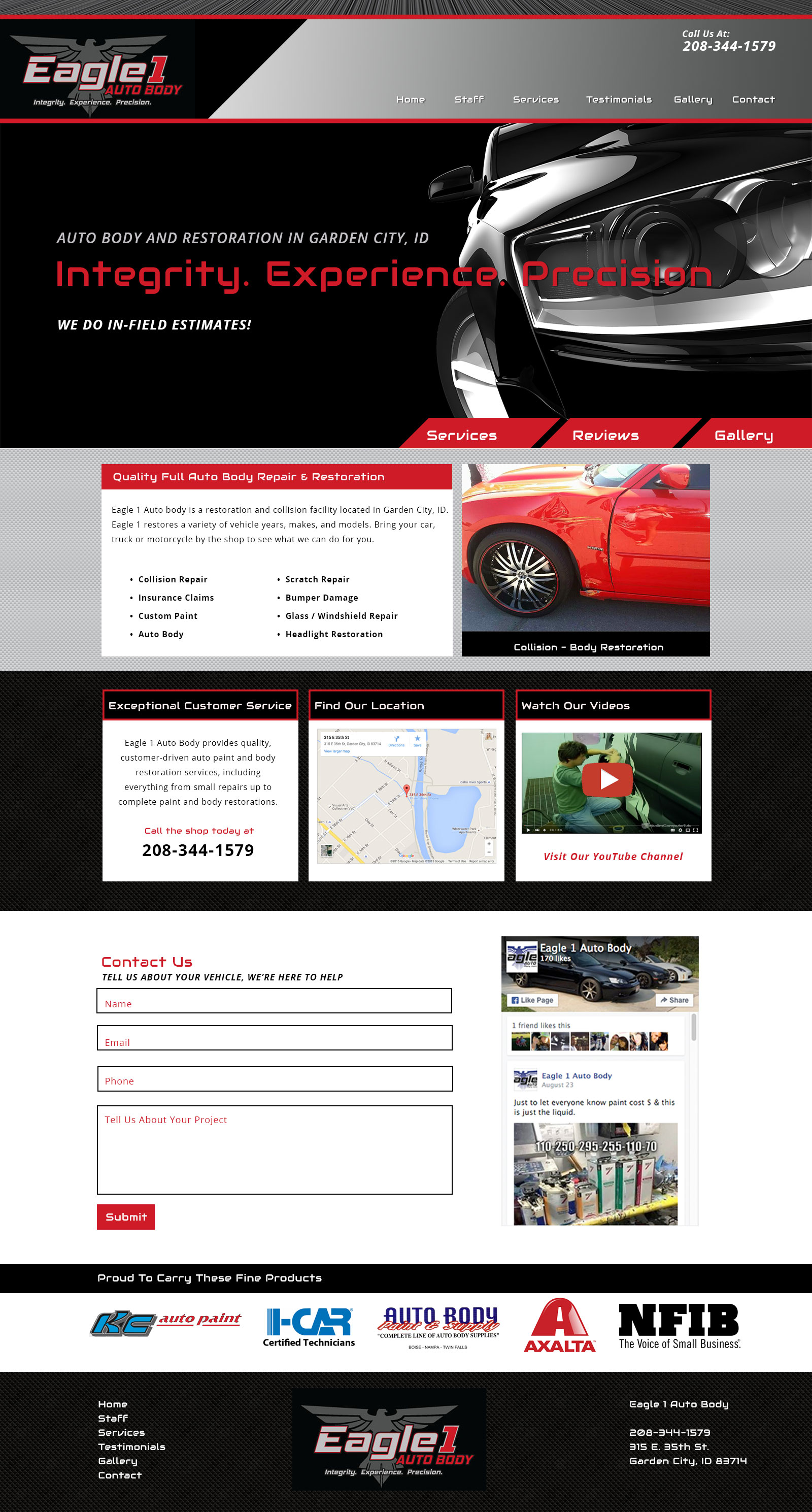 Auto Body Custom Website