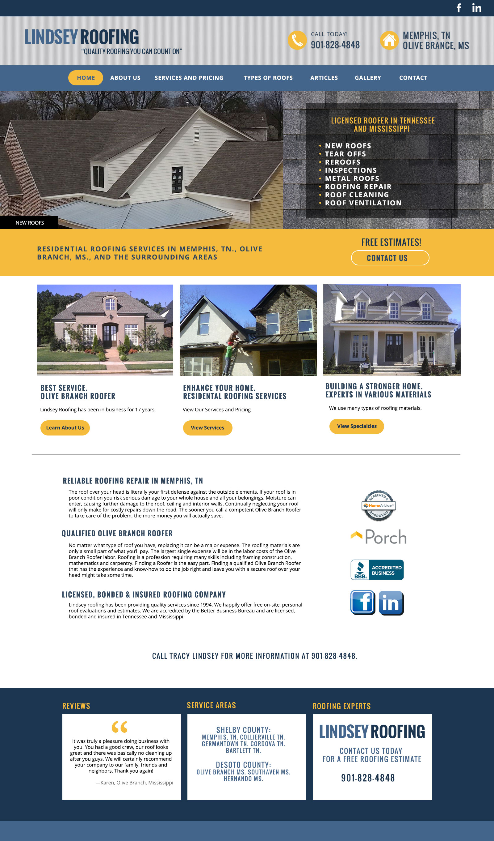 House Roofing Website