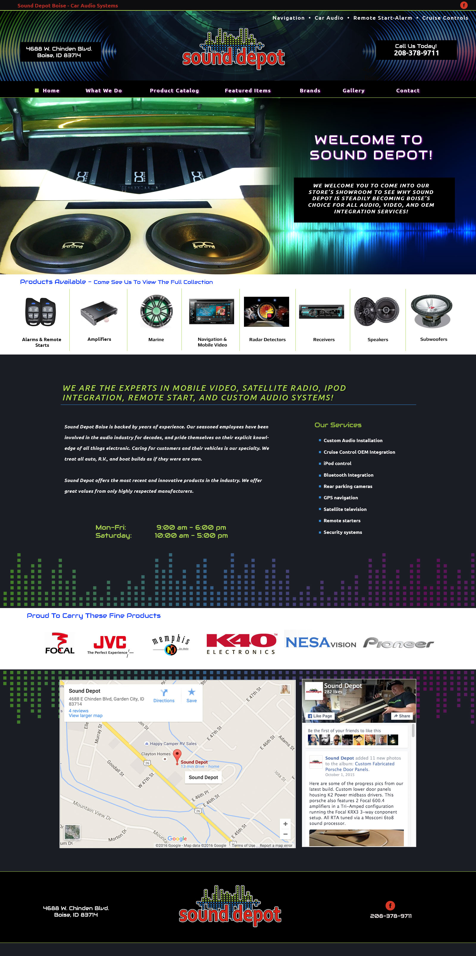 Speaker Sales Website