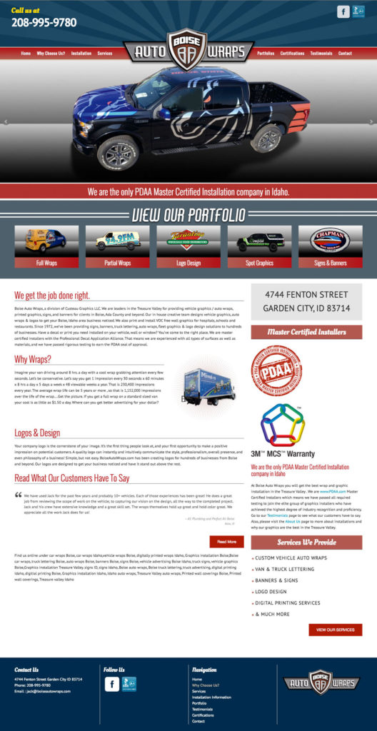 Auto Wrap Website