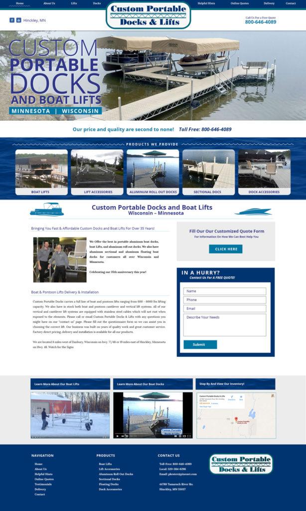 Docks Custom Website