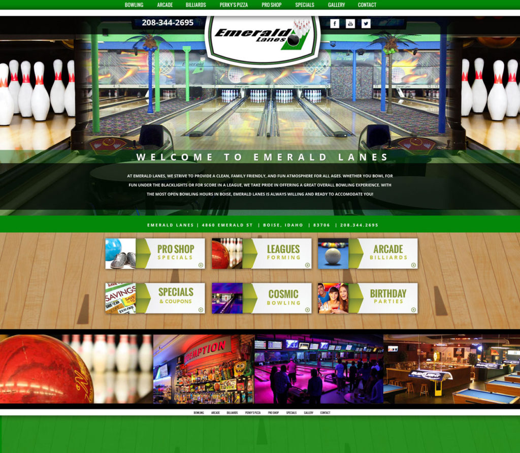 Bowling Alley Custom Website