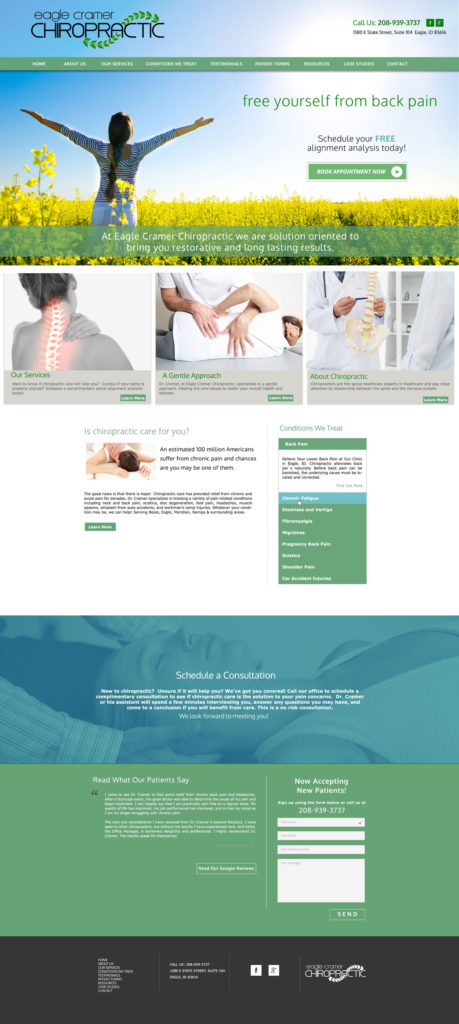 Chiropractor Custom Website
