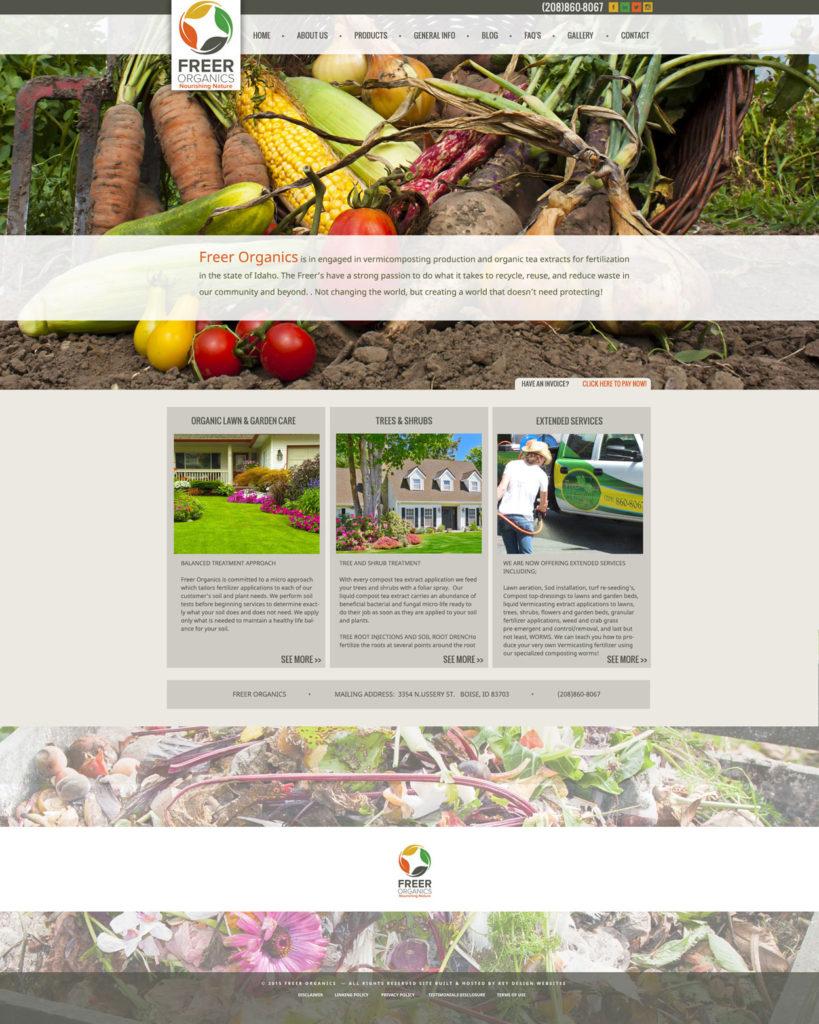 Organic Food Custom Website