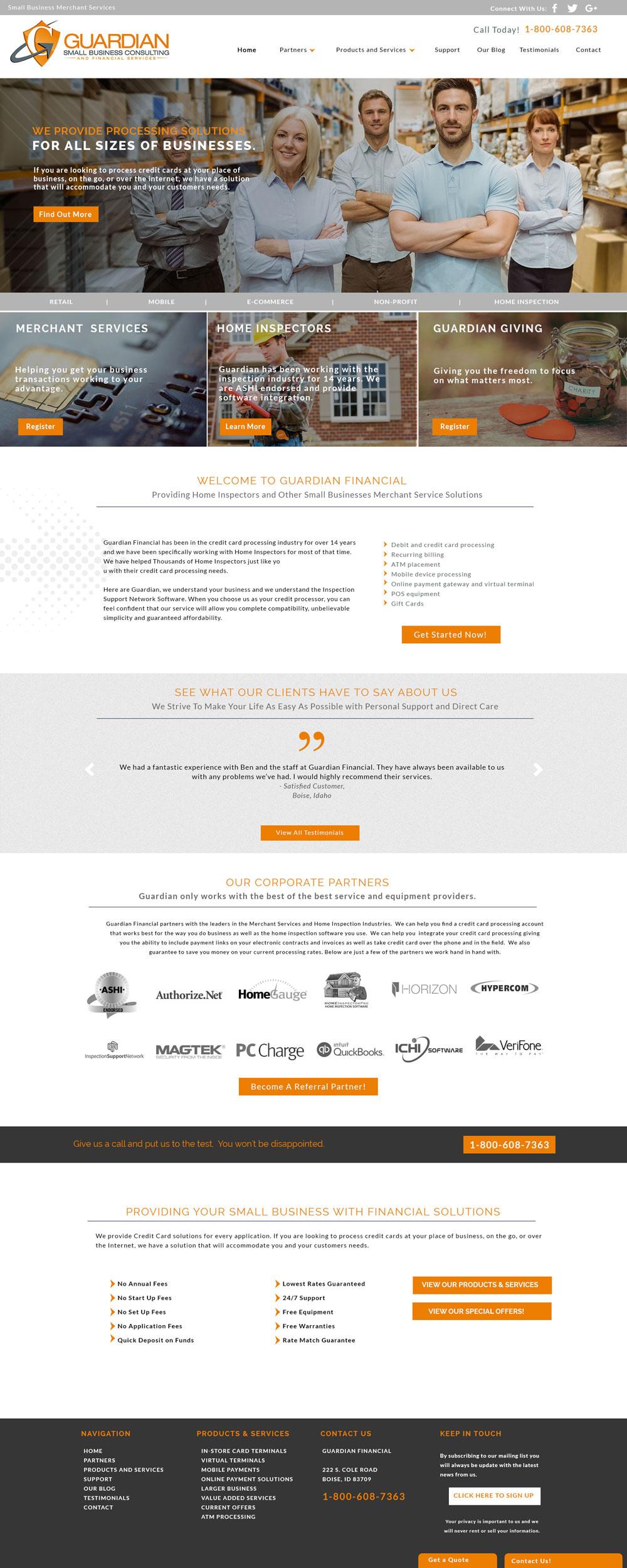 Merchant Solutions Custom Website