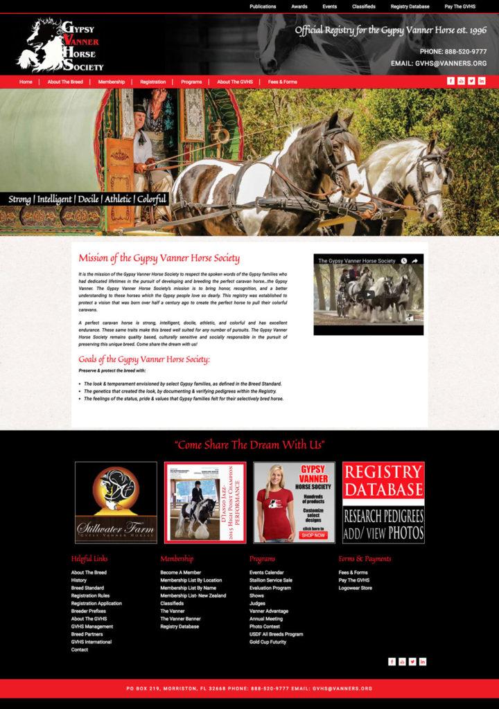 Horses Custom Website Design