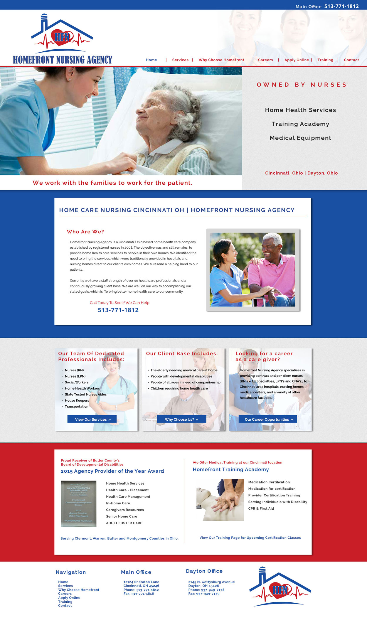 Nursing Custom Website