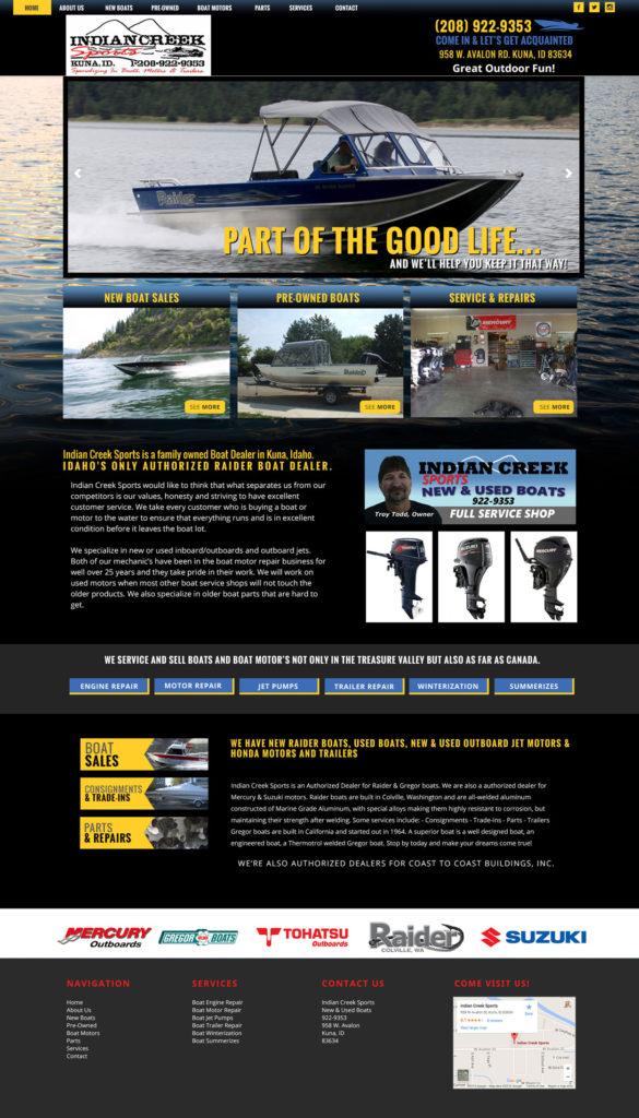 Boating Custom Website