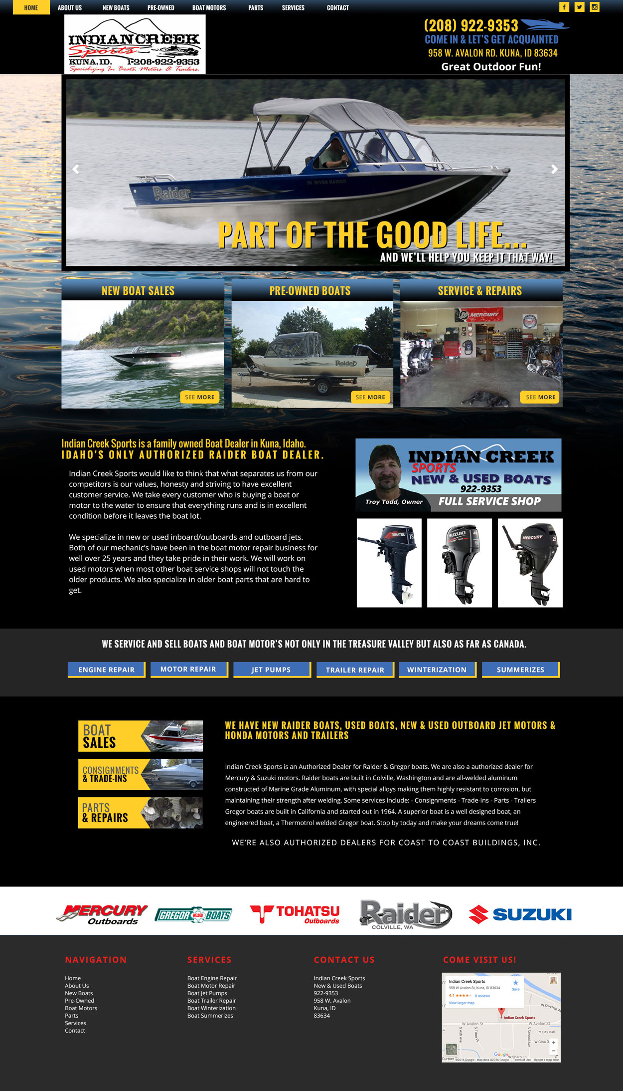 Boating Custom Website