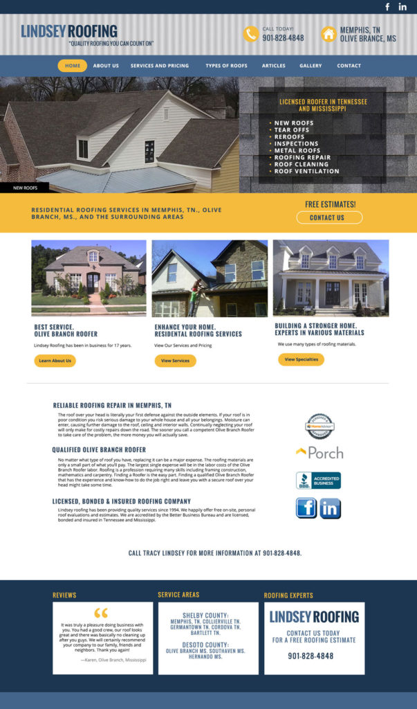 Roofing Website Design