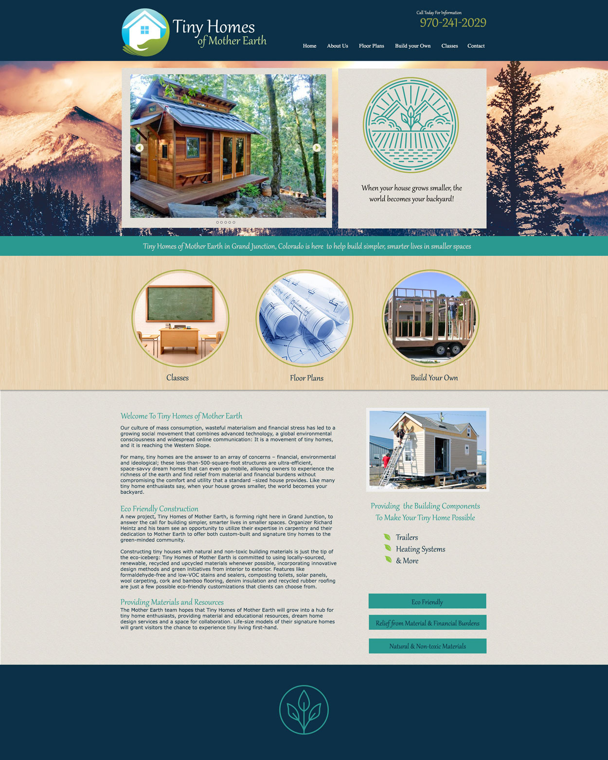 Tiny Homes Custom Website Design