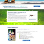 Natural Product Website Design