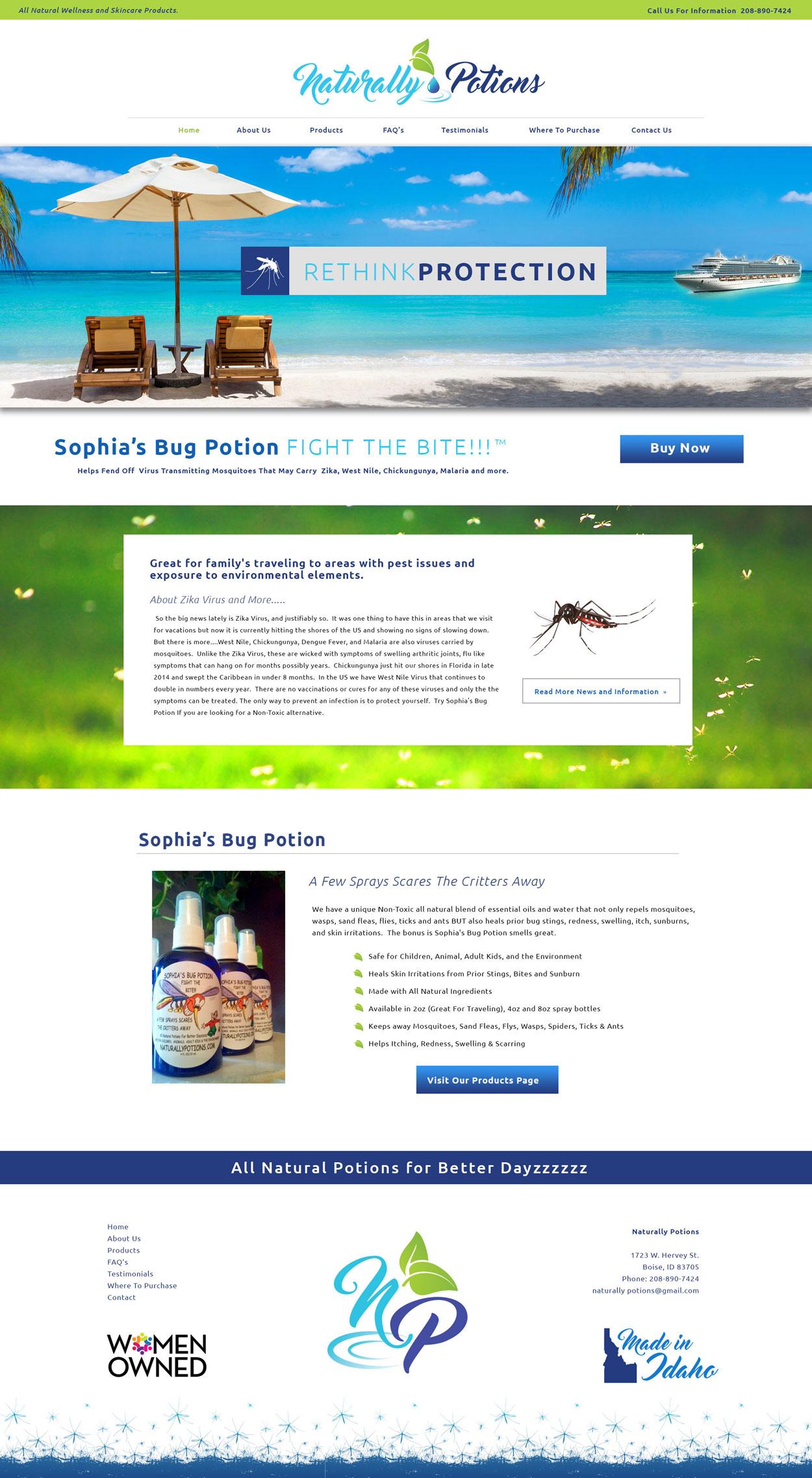 Natural Product Website Design