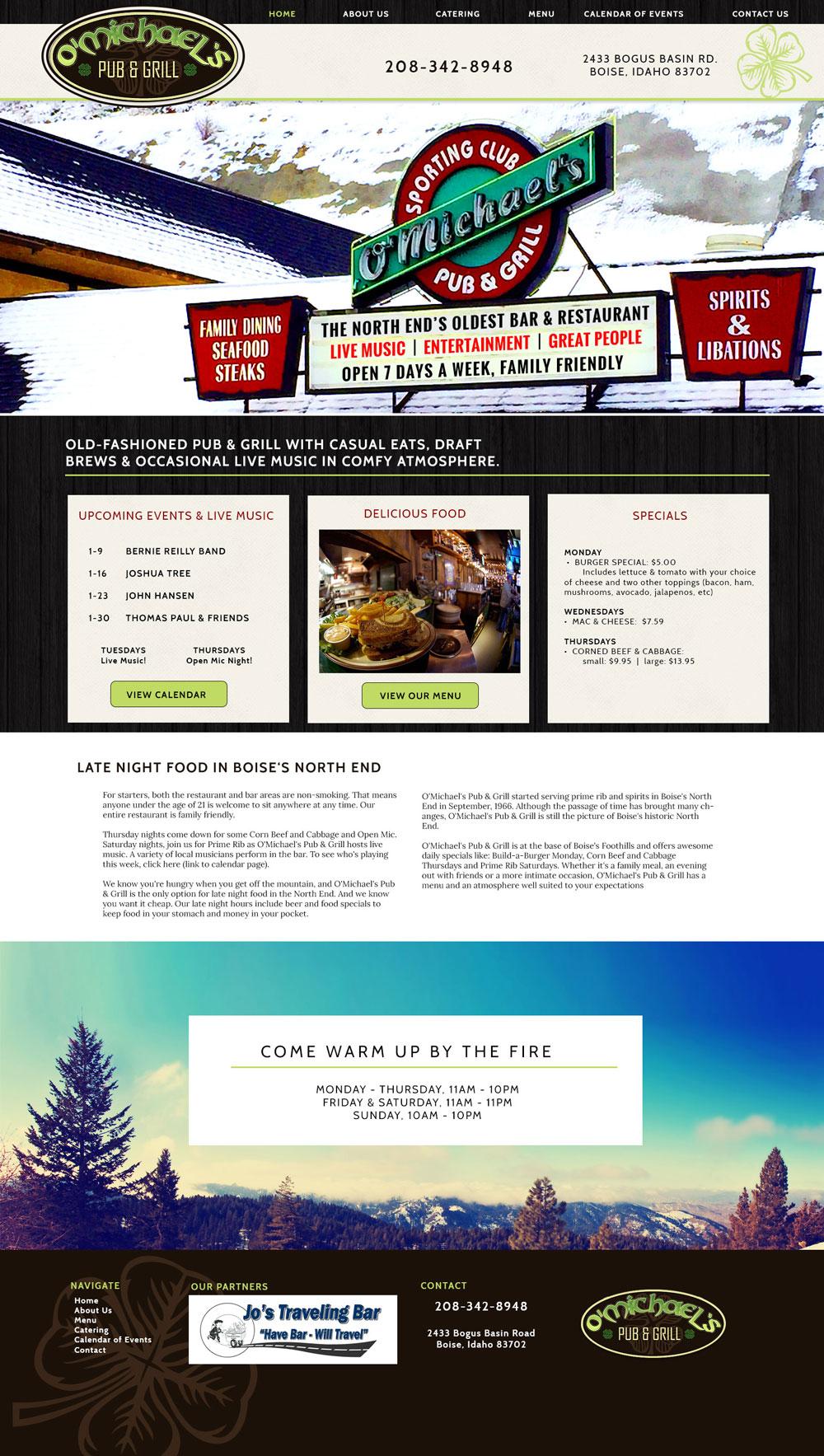 Pub Website Design in Boise
