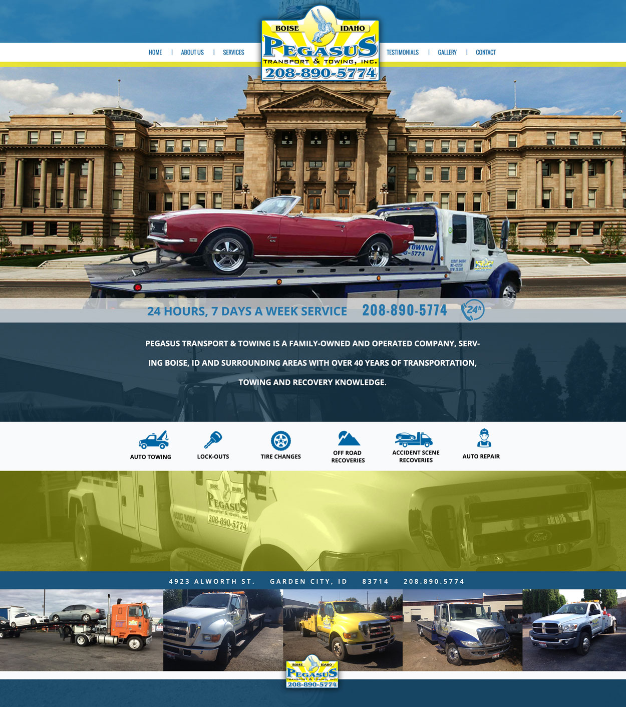 Towing Custom Website Design