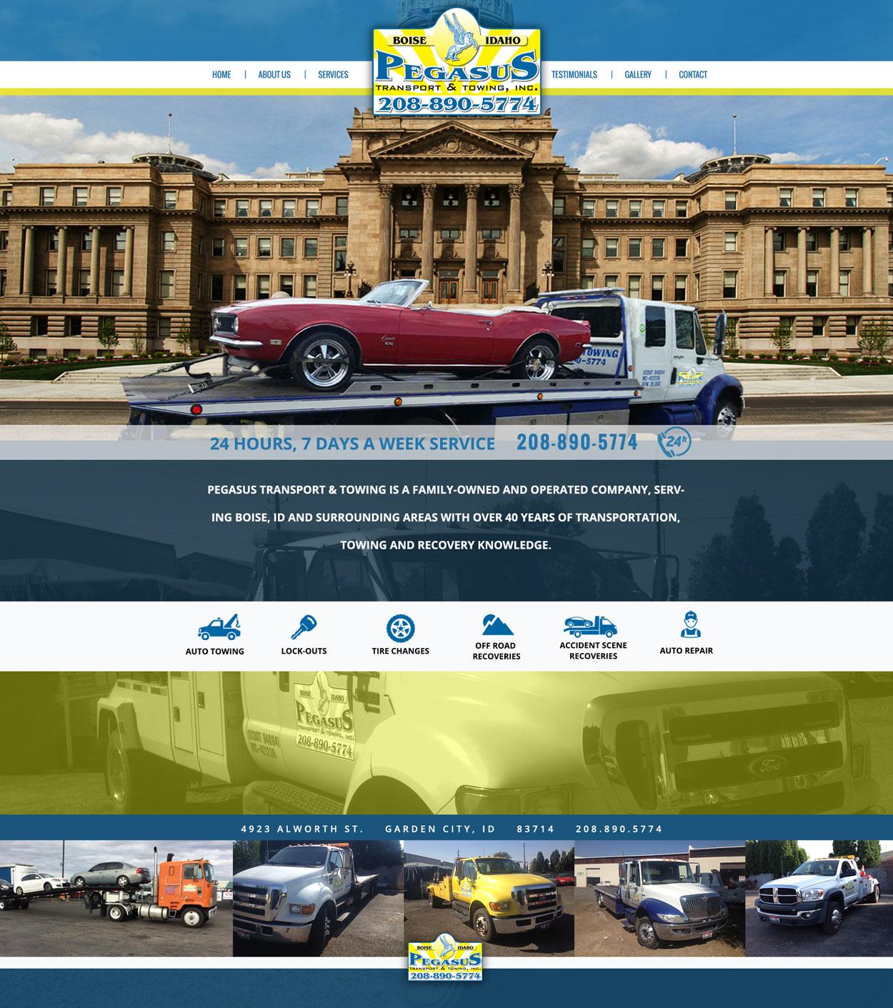 Towing Custom Website Design