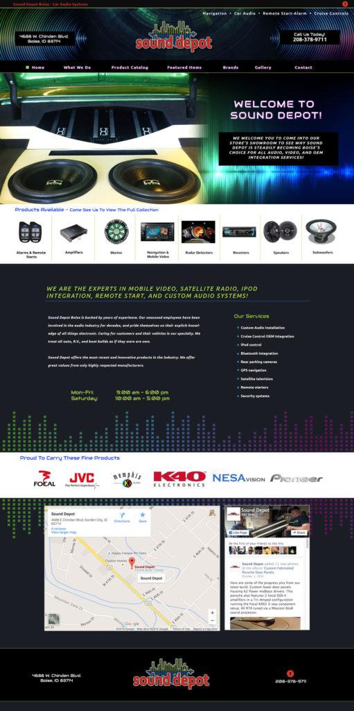 Audio Website Design
