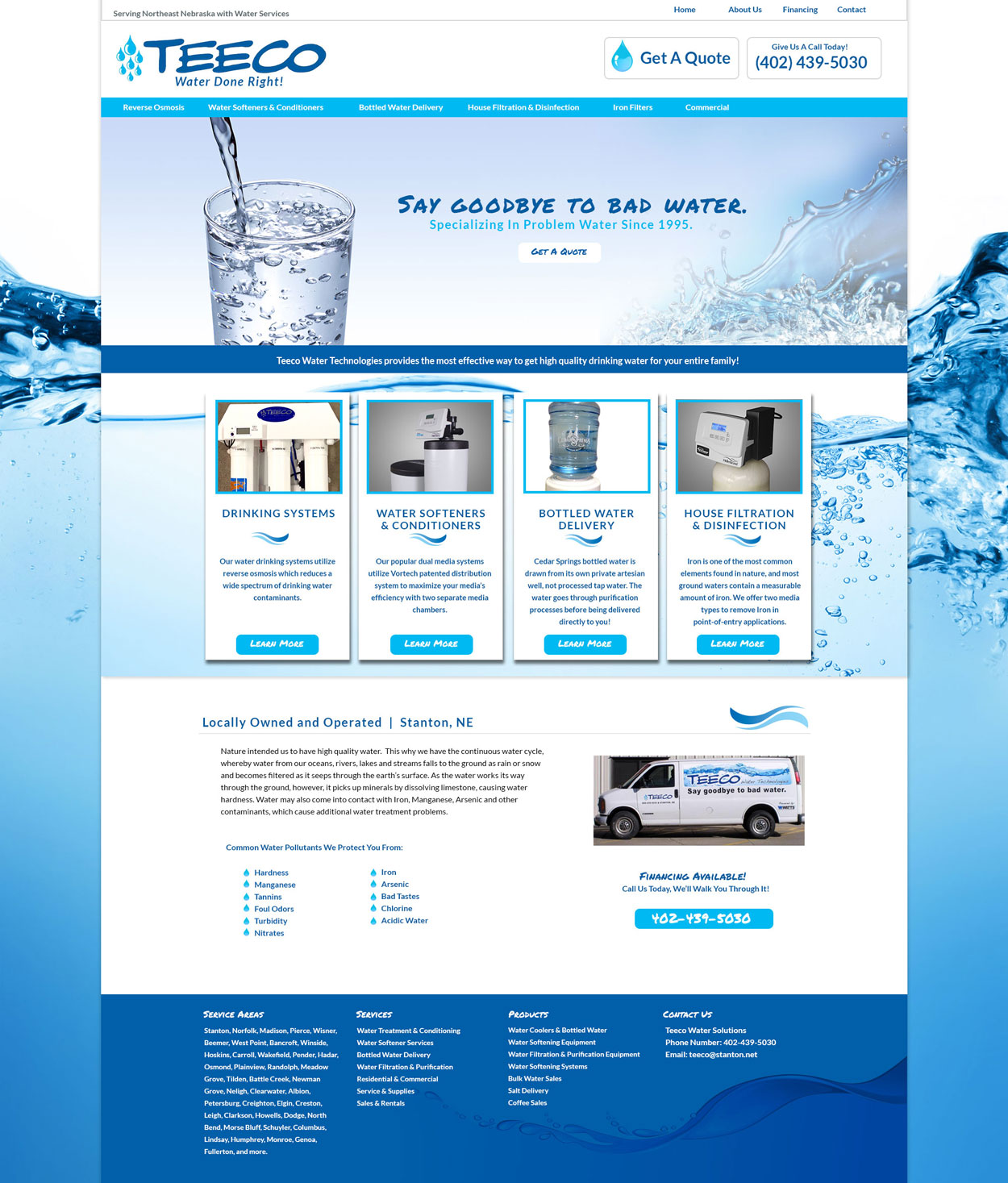 Water Website Design