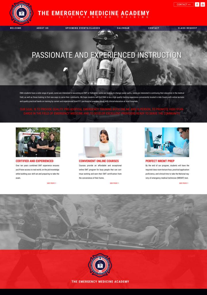 CPR Training Website Design