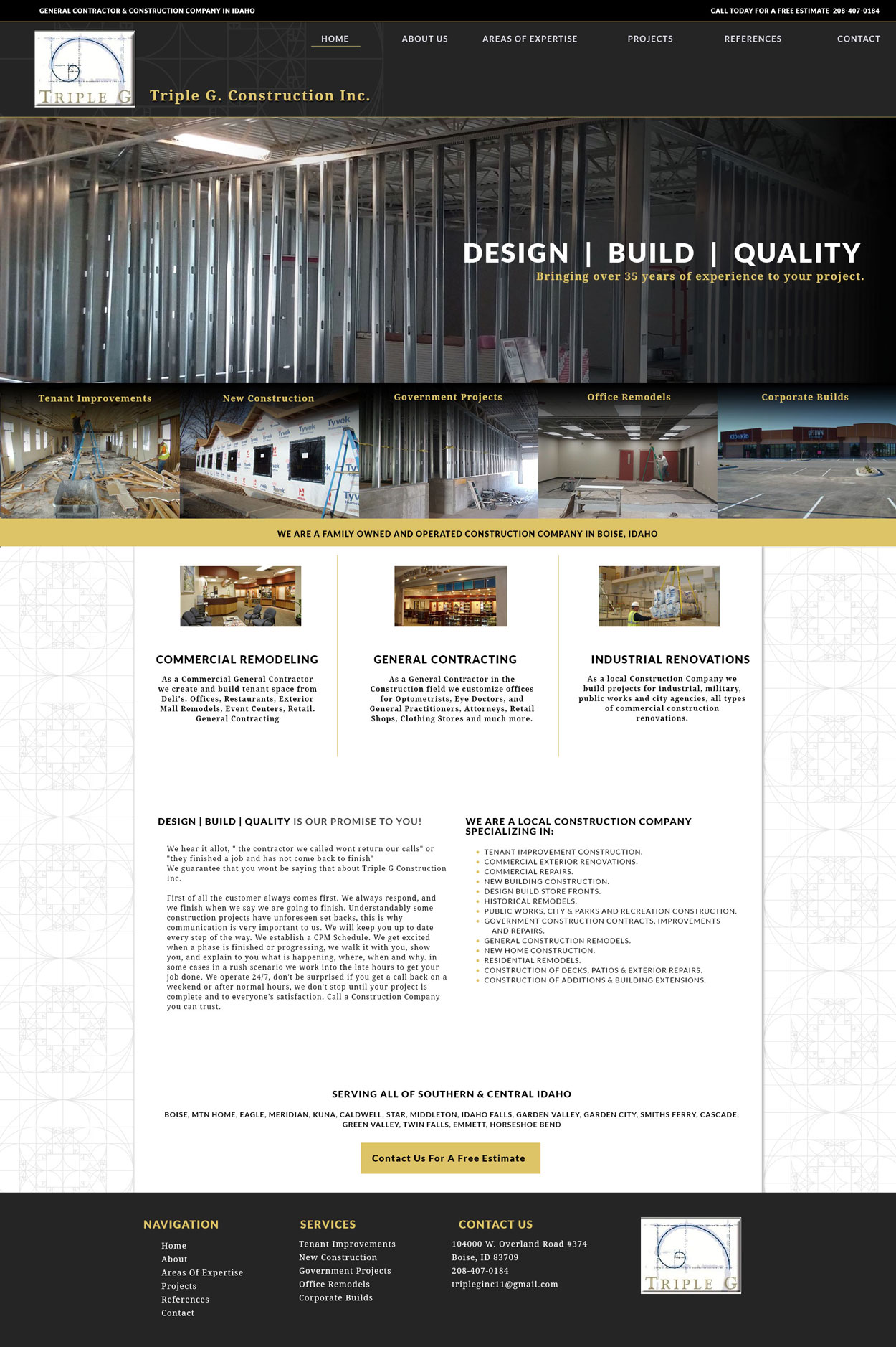 Contractor Website Design