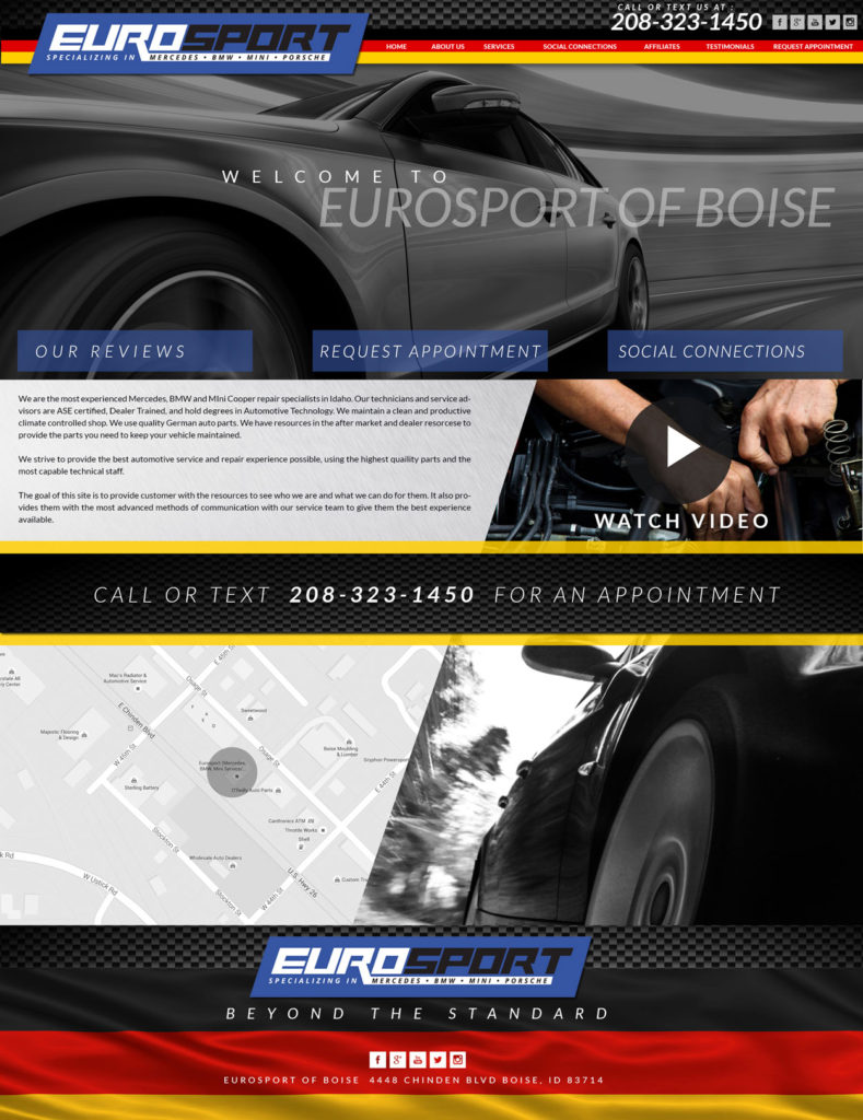 Custom Autobody Website Design