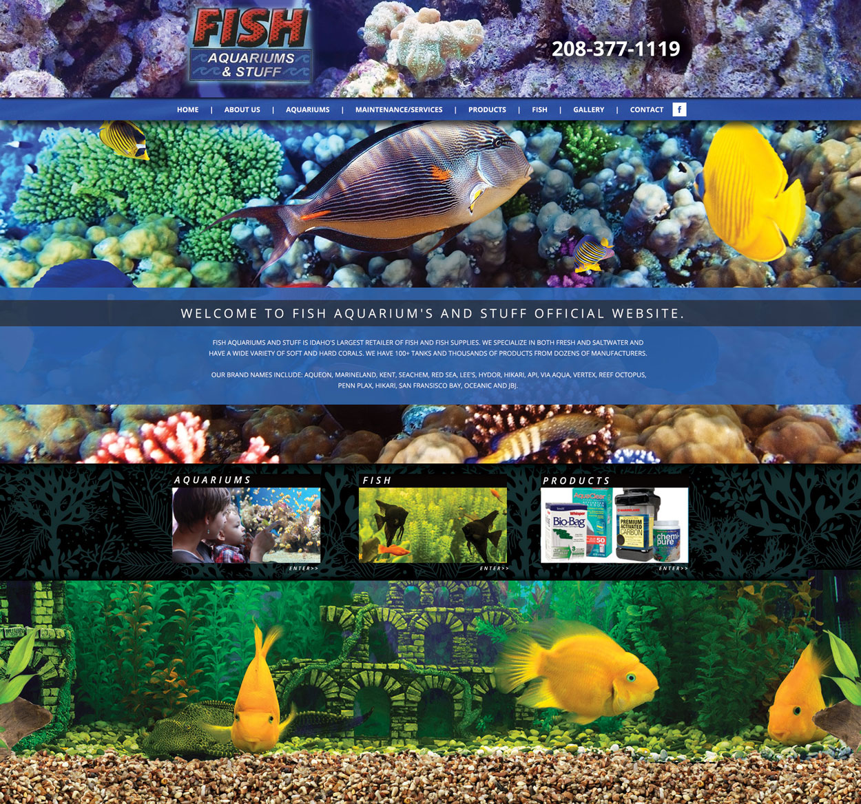 Fish Aquarium Custom Website