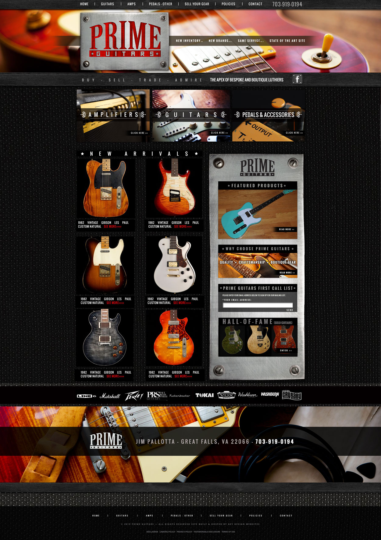 Guitar Sales Custom Website