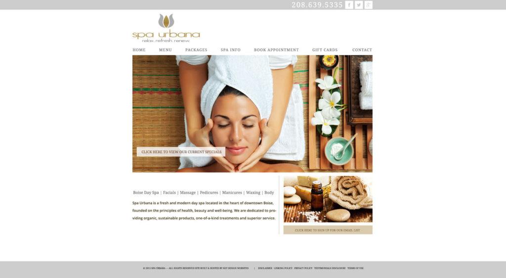 Custom Spa Website Design