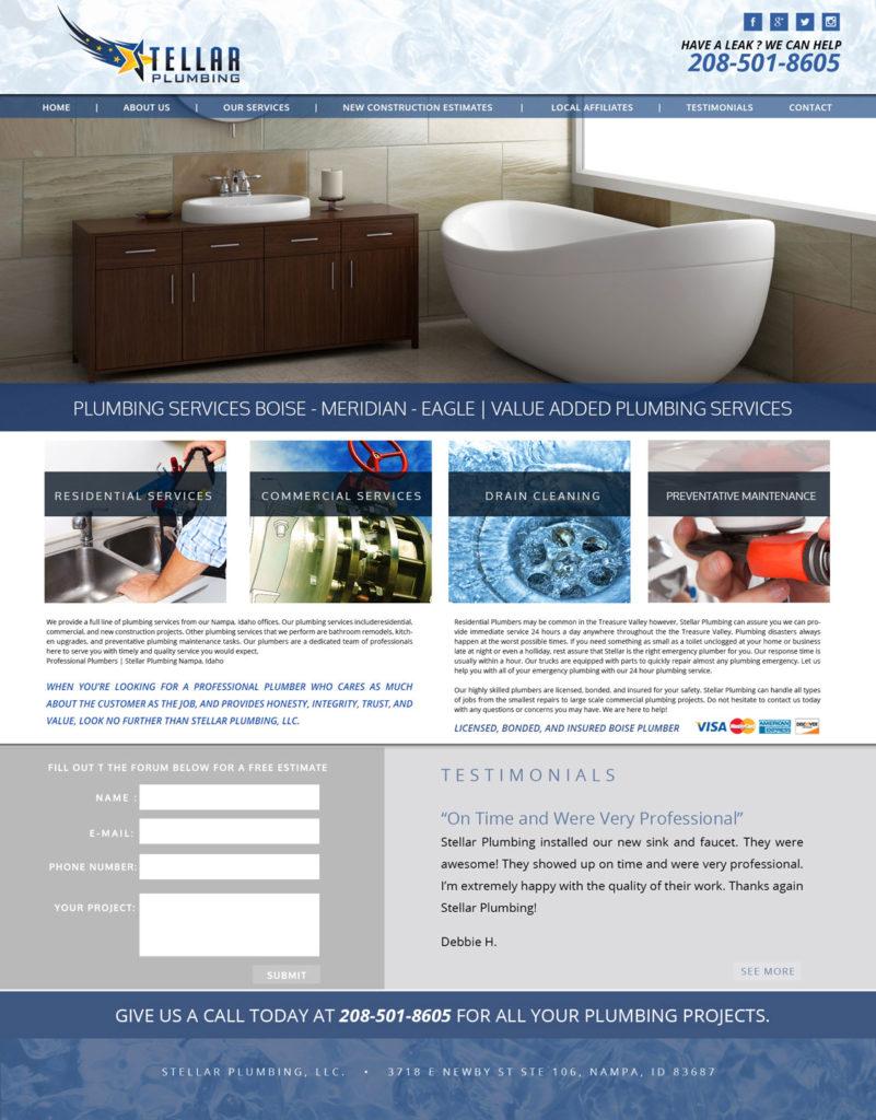 Custom Plumbing Website Design