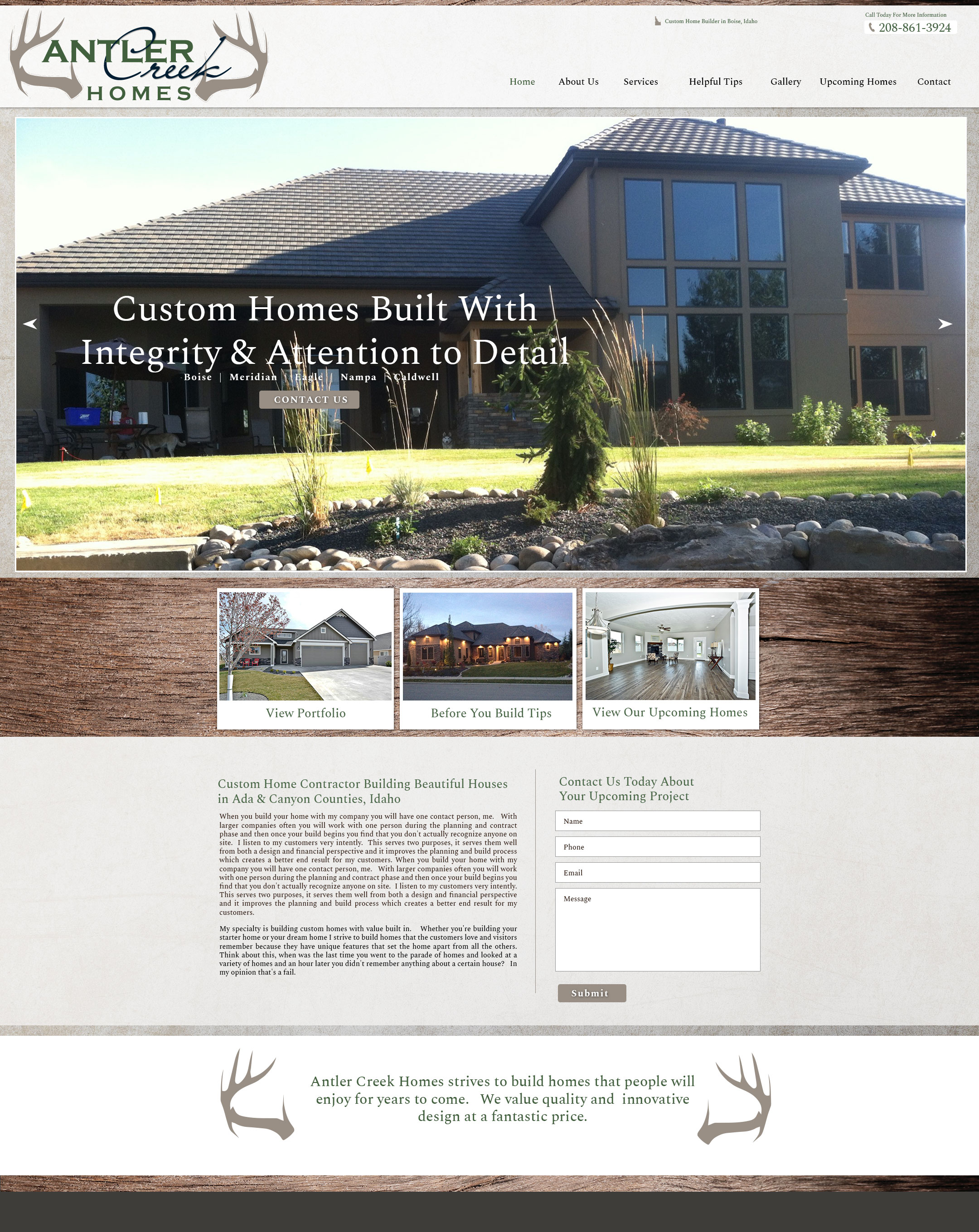 Custom home boise id builder boise id contractor boise for Custom home builder contract