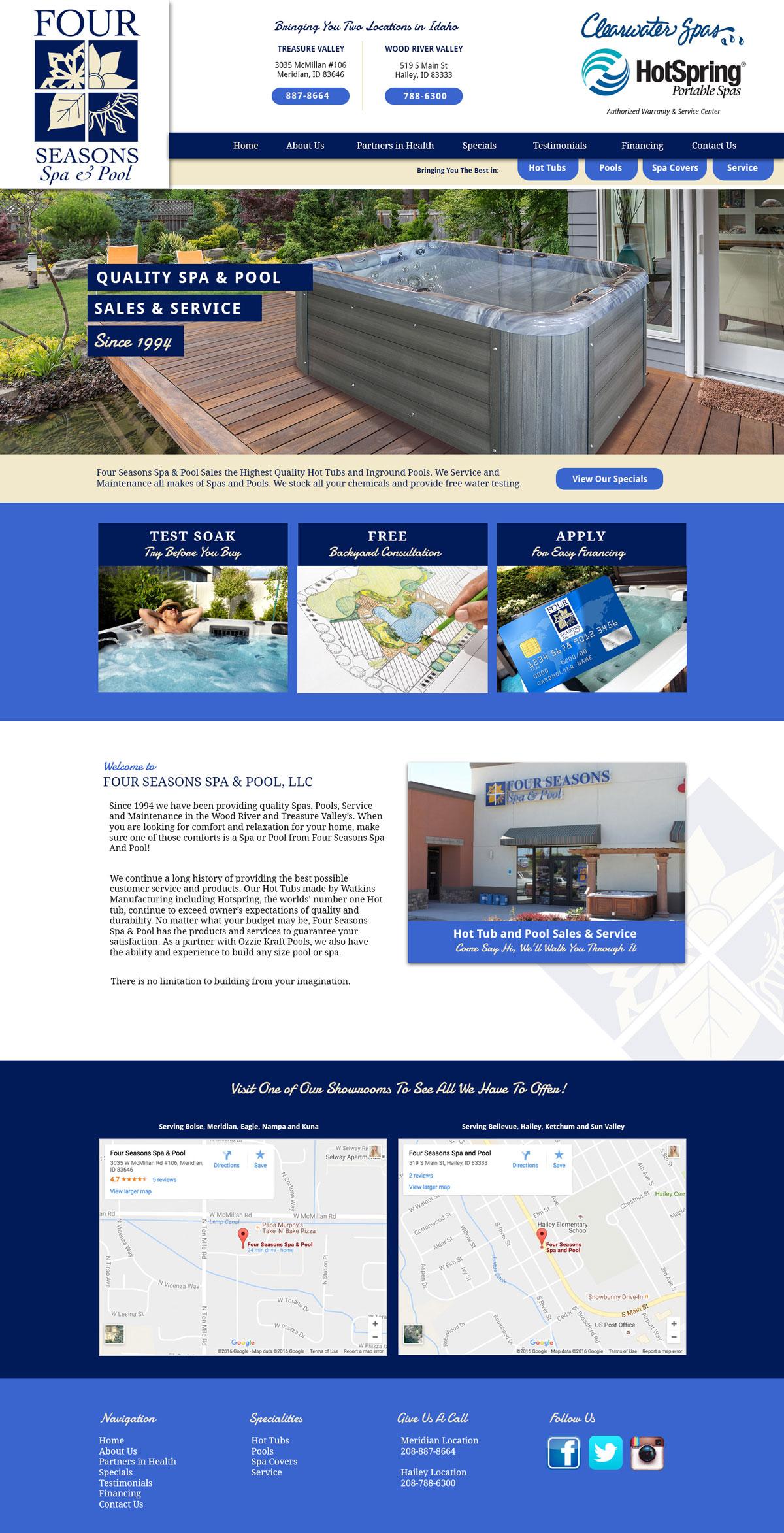 Spa Sales Custom Website