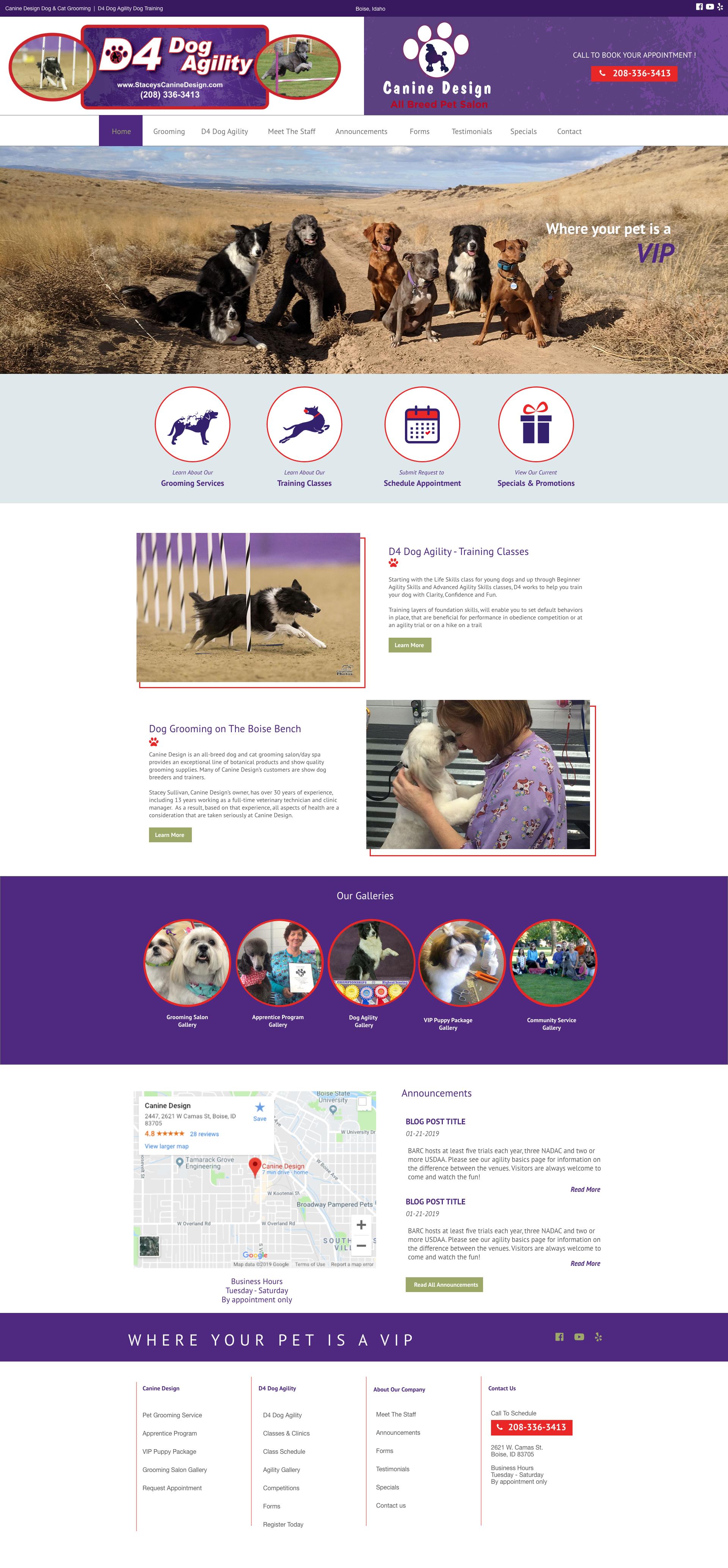 ID Canine Design Dog & Cat Grooming | D4 Dog Agility Dog ID
